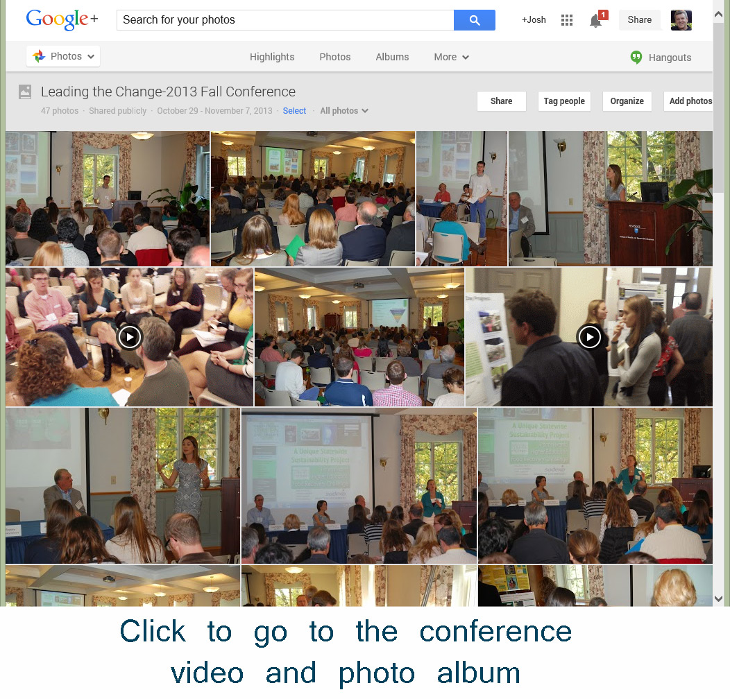 Click to go to Conference Video and Pic Album