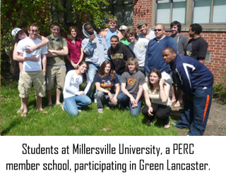 Students at Millersville, Green Lancaster